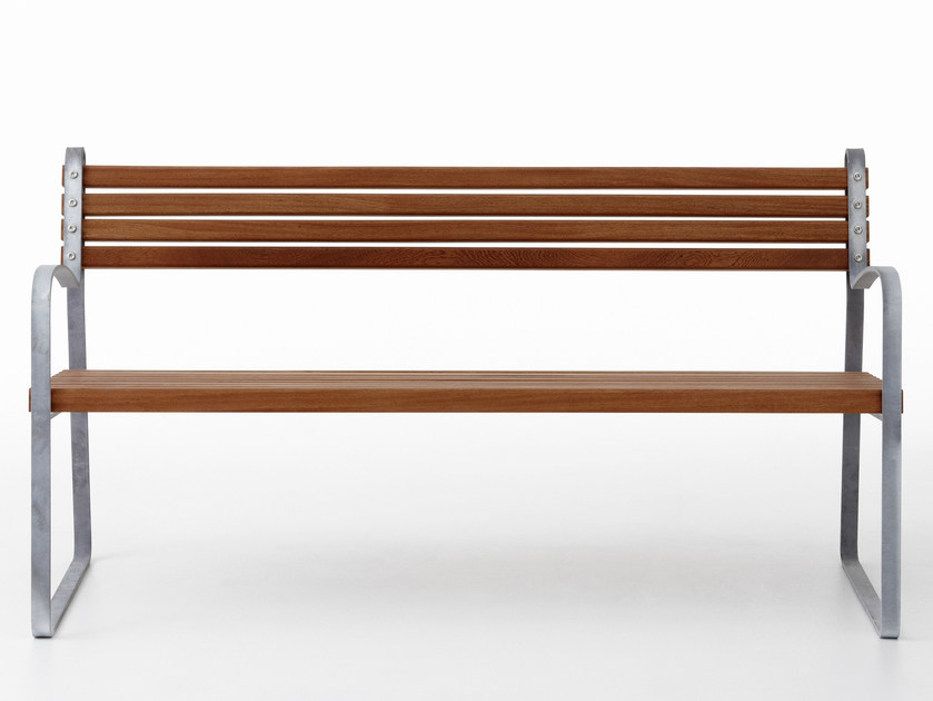Wooden Bench with armrests RIBB by Nola Industrier