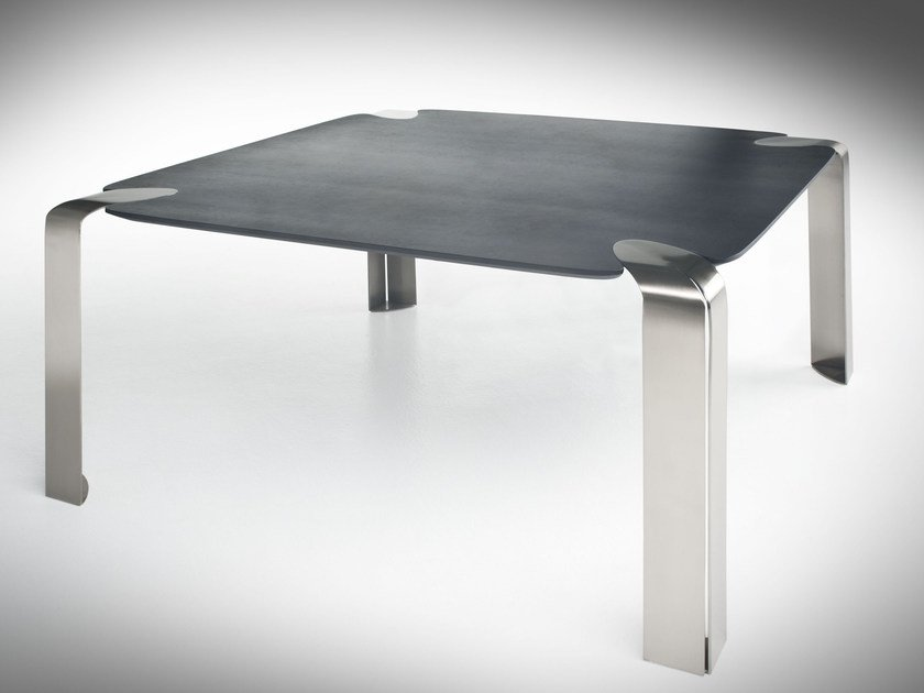 Square crystal table FLOW | Square table by F.lli Orsenigo