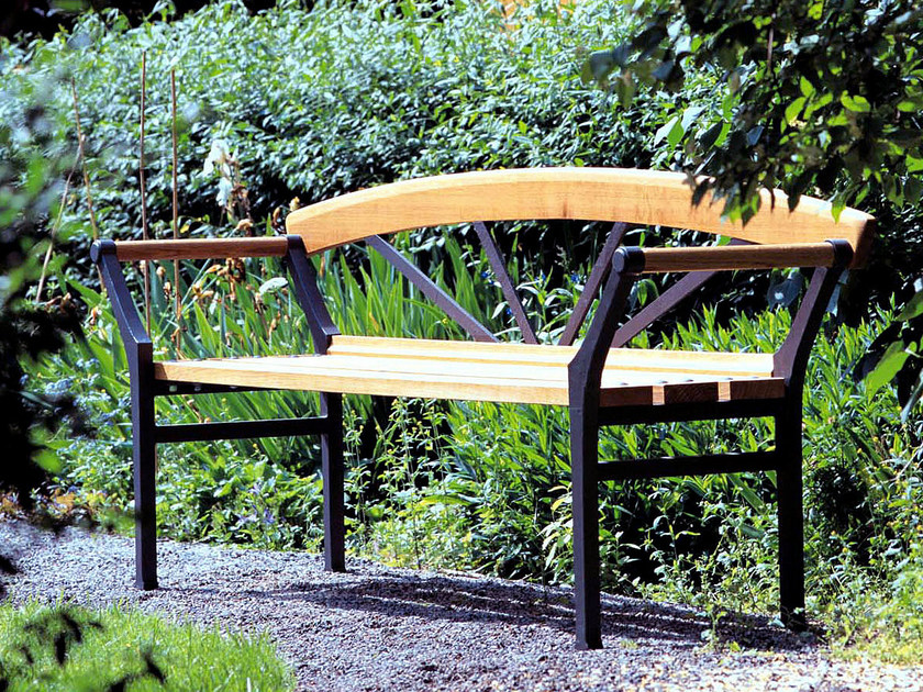 Oak Bench with armrests SOL by Nola Industrier