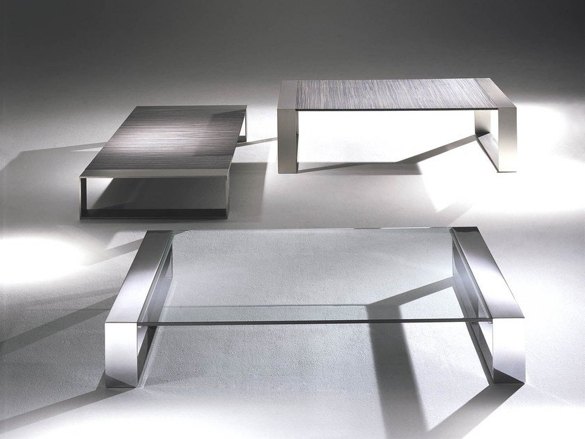 Crystal and steel coffee table RING | Coffee table by F.lli Orsenigo