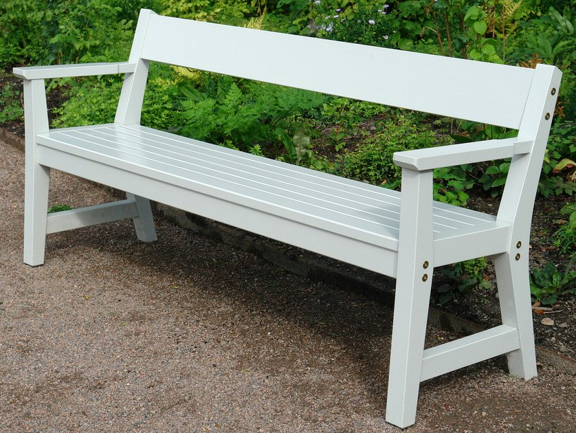 Wooden Bench with armrests VEJBY   Bench by Nola Industrier