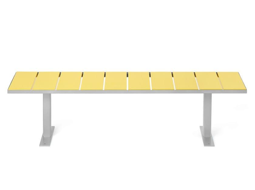 Backless steel Bench SIDEWALK | Backless Bench by Nola Industrier
