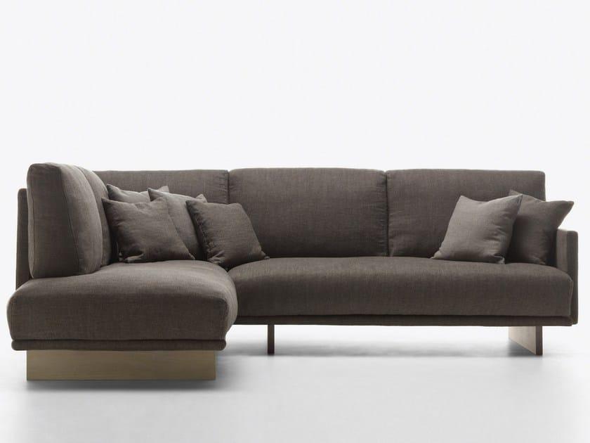 Corner fabric sofa LANDSCAPE by Passoni Nature