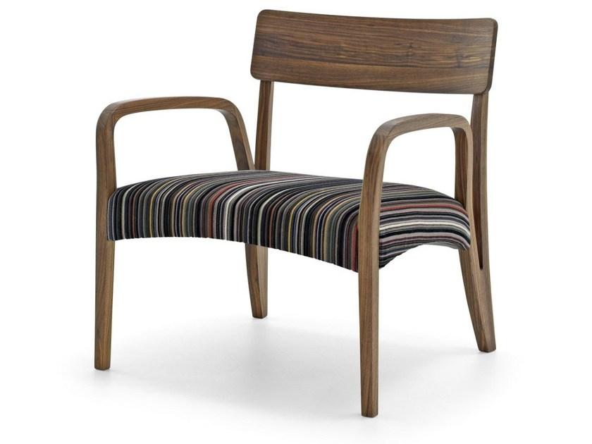 Easy chair with armrests MORAAR LAZY PAUL SMITH SPECIAL by Passoni Nature
