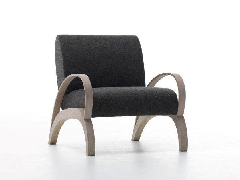 Upholstered relaxing armchair with armrests SPRING by Passoni Nature