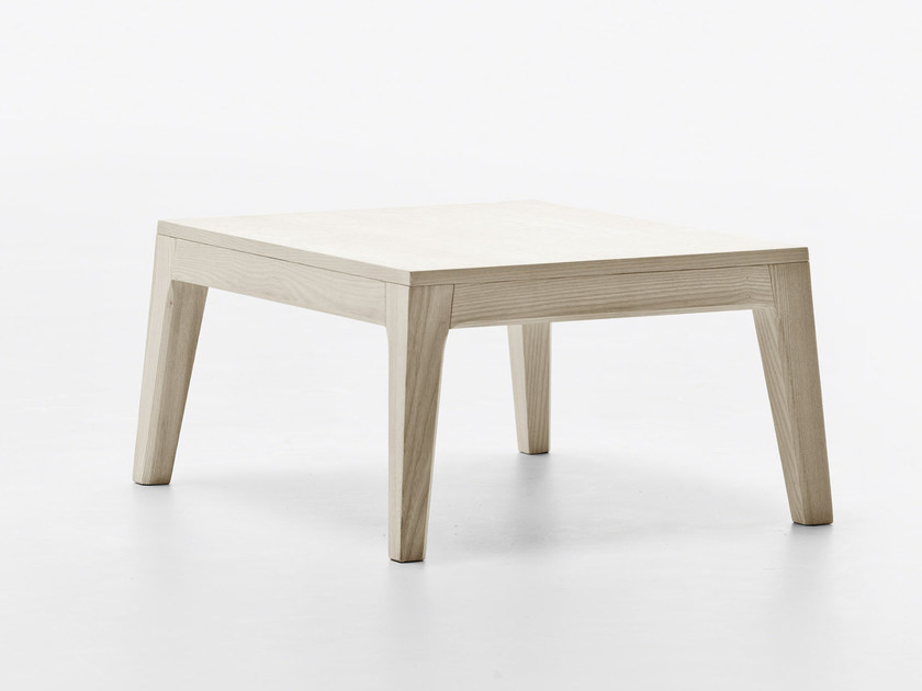 Low square wooden coffee table SLOW | Coffee table by Passoni Nature