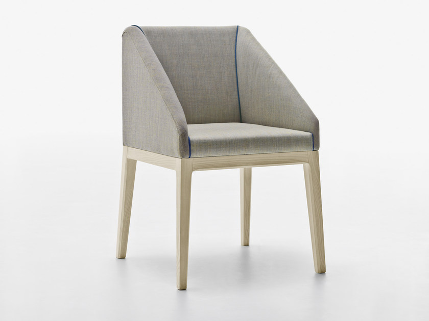 Upholstered chair with armrests SLOW | Chair with armrests by Passoni Nature