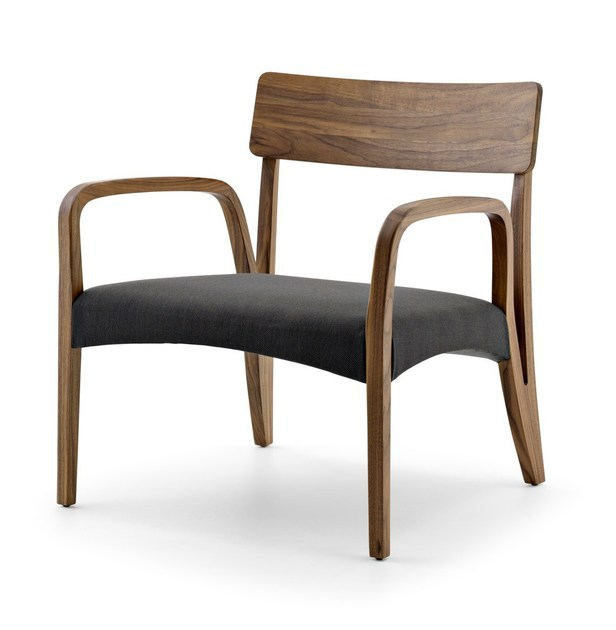 Easy chair with armrests MORAAR LAZY by Passoni