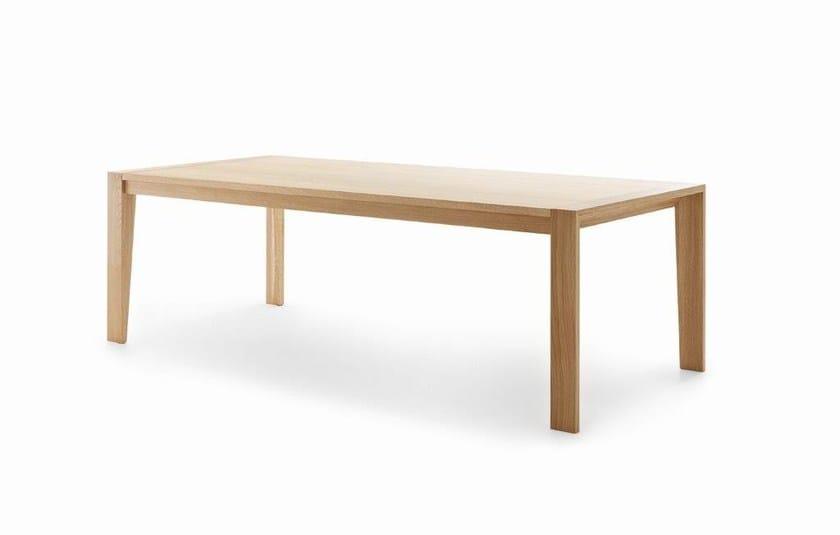 Tavolo allungabile rettangolare in legno prince by passoni design
