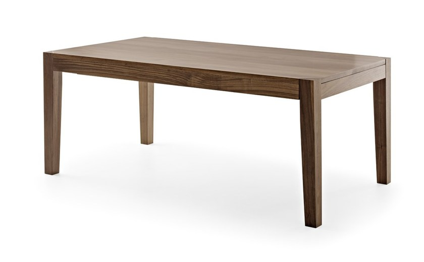 Extending rectangular wooden table HELIOS | Extending table by Passoni Nature
