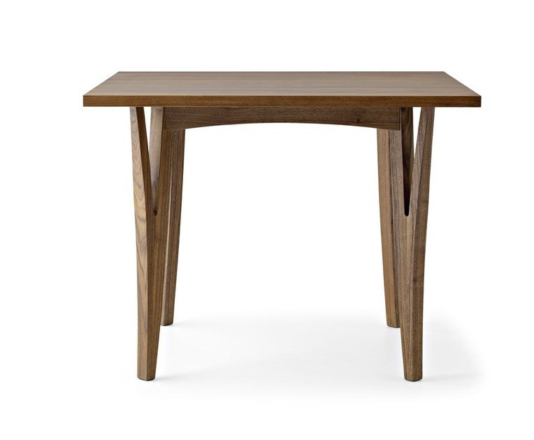 Square solid wood table MORAAR | Square table by Passoni Nature