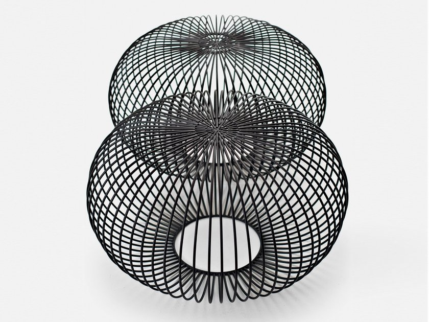 Steel pouf / coffee table PLOFF by La Cividina