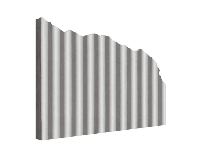 Matrice per parete facciavista in calcestruzzo MANO© ONDULATO by PLASMACEM
