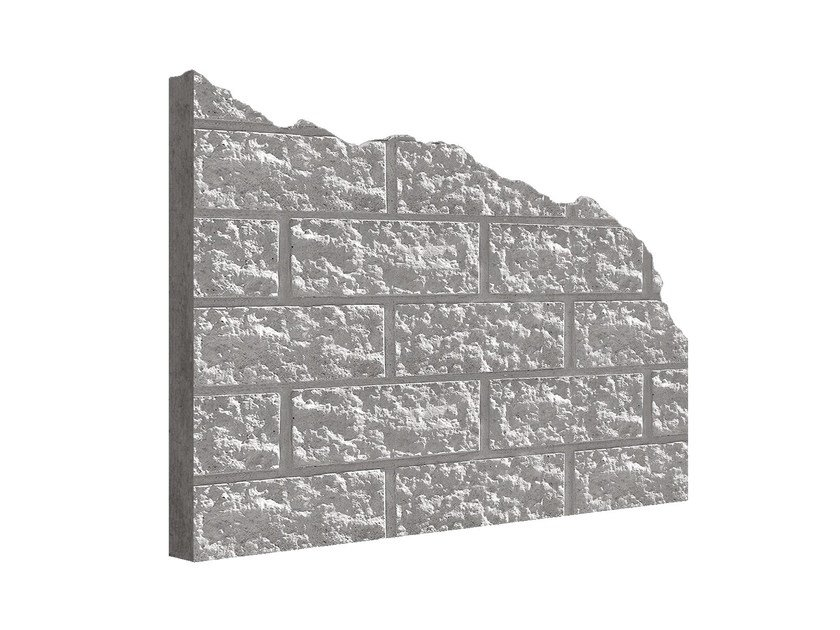 Matrix for fair faced concrete wall MANO© BLOCKSTONE by PLASMACEM