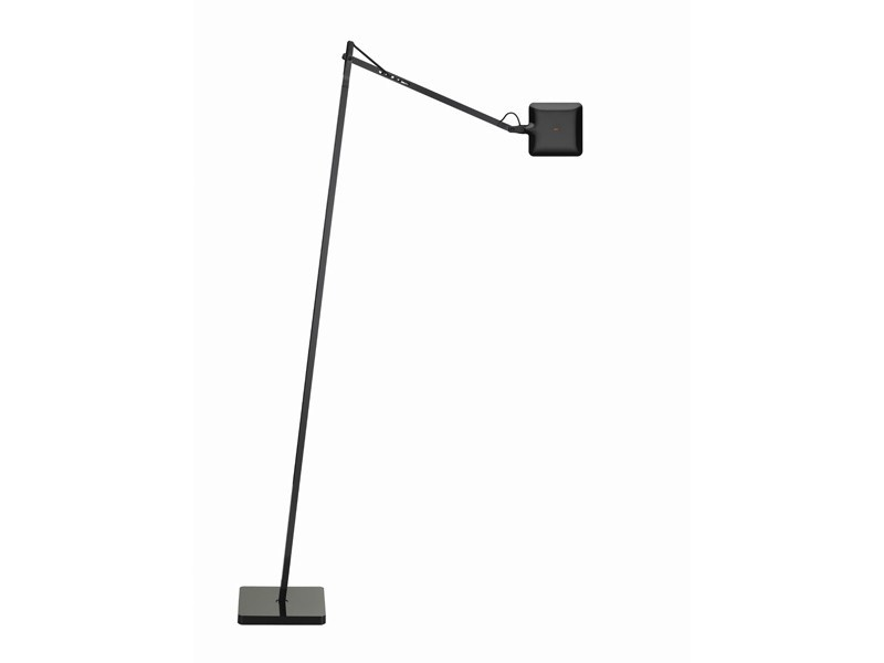 Adjustable floor lamp kelvin led f by flos