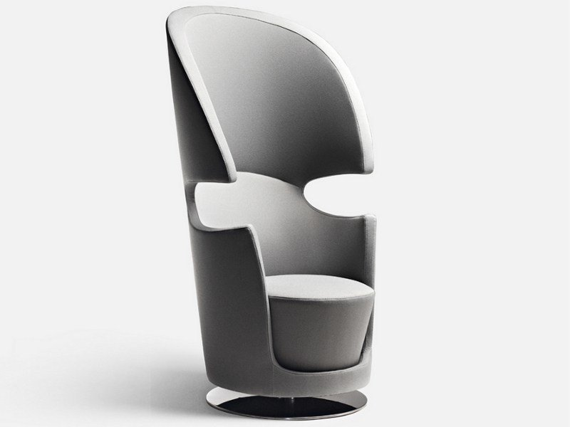 High-back fabric armchair FOLIES BERGERE by La Cividina
