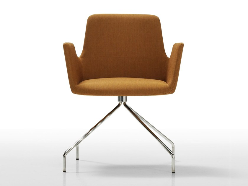 Trestle-based fabric easy chair ALTEA | Trestle-based easy chair by Inclass Mobles