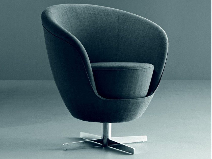 Fabric armchair with 4-spoke base JANGO | Armchair by La Cividina