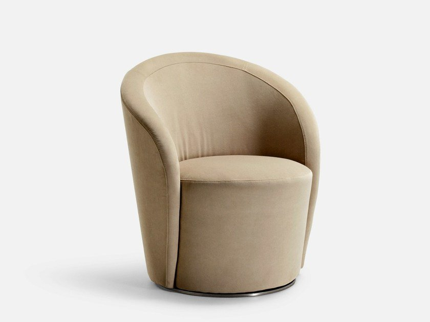 Swivel armchair with fire retardant padding SPEAK EASY by La Cividina