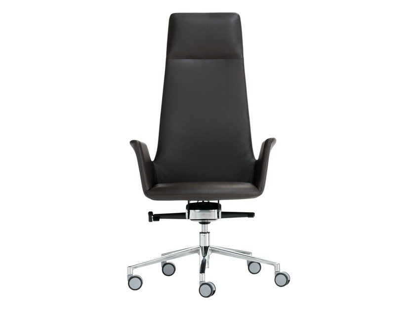 Height-adjustable task chair with 5-Spoke base with casters ALTEA OFFICE | Task chair by Inclass Mobles