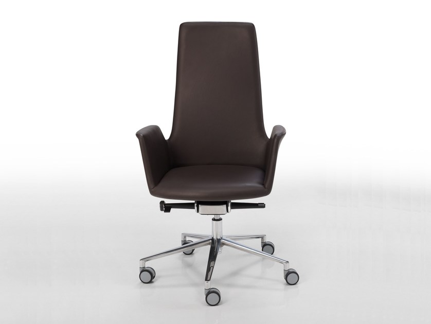 Height-adjustable swivel task chair with casters ALTEA OFFICE | Task chair with casters by Inclass Mobles