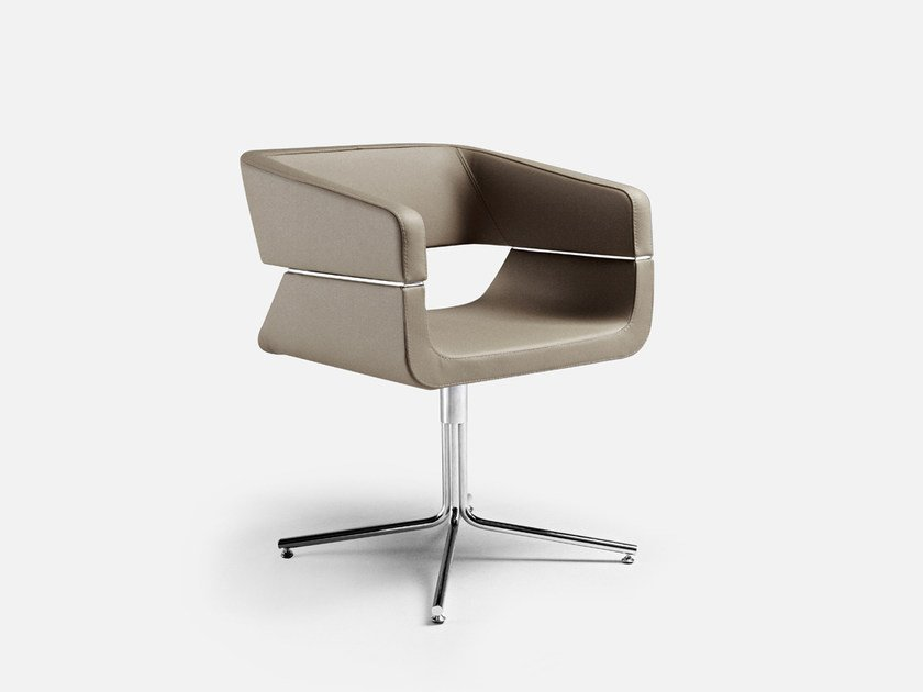 Swivel easy chair with 4-spoke base MATRIX | Swivel easy chair by La Cividina