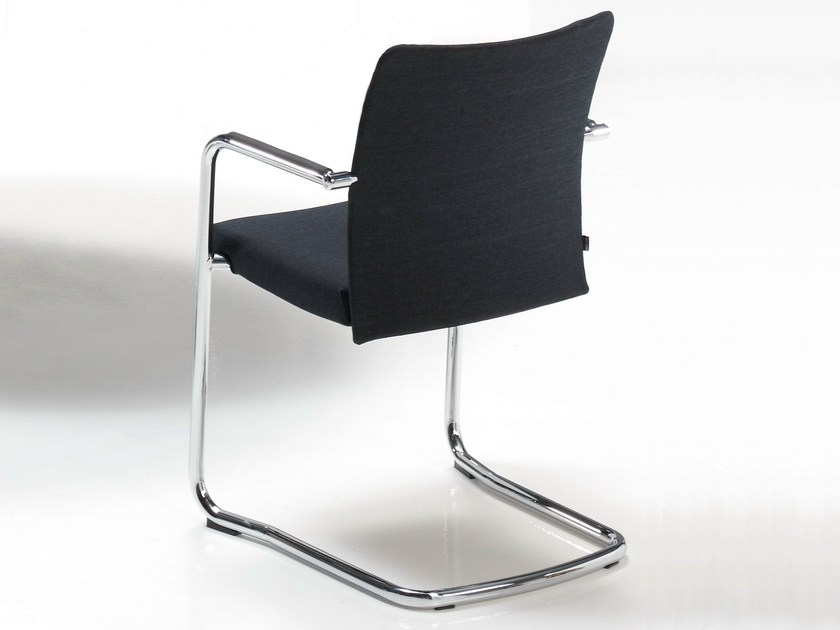 Cantilever upholstered chair with armrests ITEK 200   Chair by Inclass Mobles