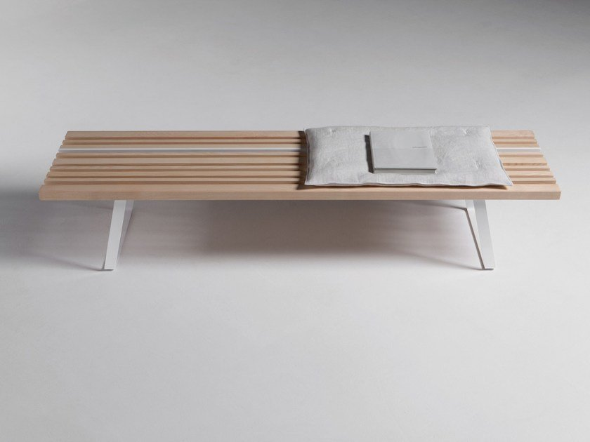 Ash bench / coffee table LINE BENCH by La Cividina