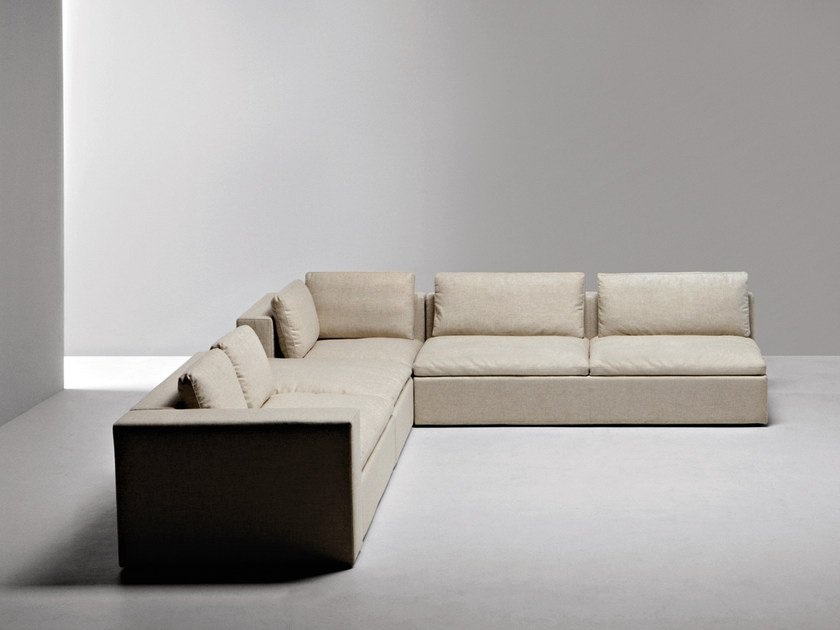 Corner Sectional Fabric Sofa Puzzle By La Cividina