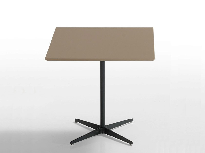 Square table with 4-star base MALIBÙ | Square table by Inclass Mobles