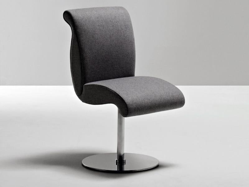 Swivel upholstered fabric chair GENESIS | Swivel chair by La Cividina