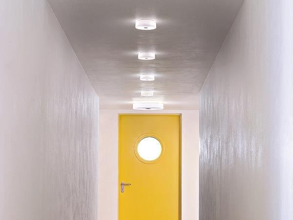 Polycarbonate ceiling lamp BUTTON | Ceiling lamp by FLOS