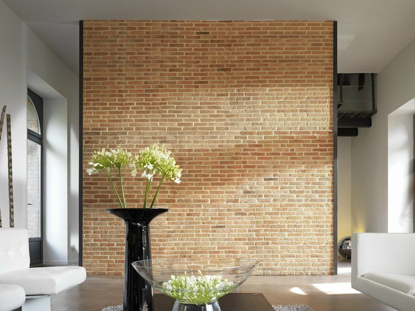 Reconstructed stone wall tiles BRIQUE by ORSOL