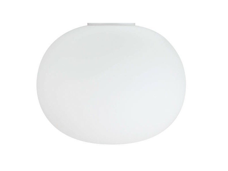 Opal glass ceiling lamp GLO-BALL C by Flos