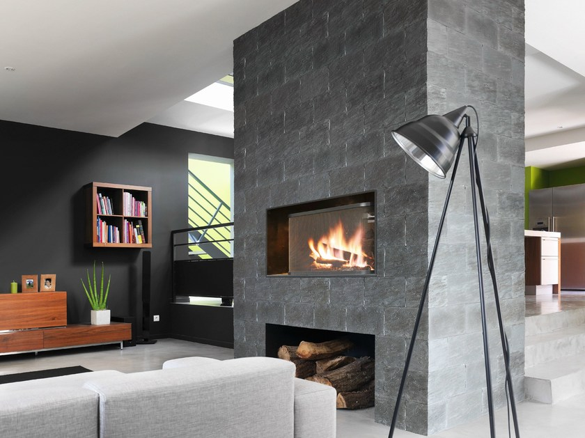 Indoor reconstructed stone wall tiles SCHISTE by ORSOL