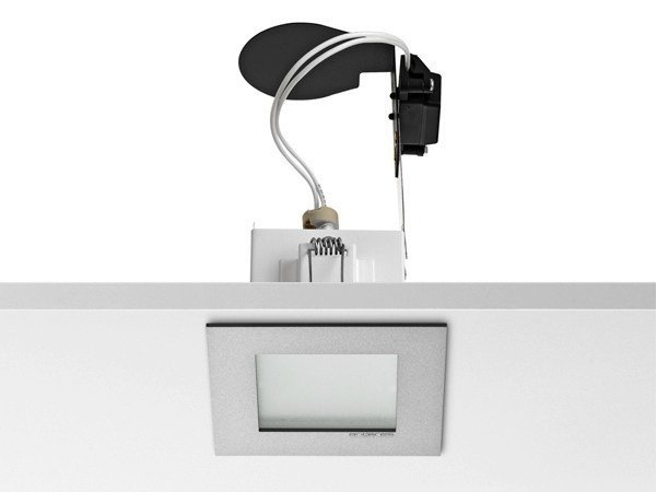 Halogen ceiling recessed die cast aluminium spotlight MICRO BATTERY by FLOS