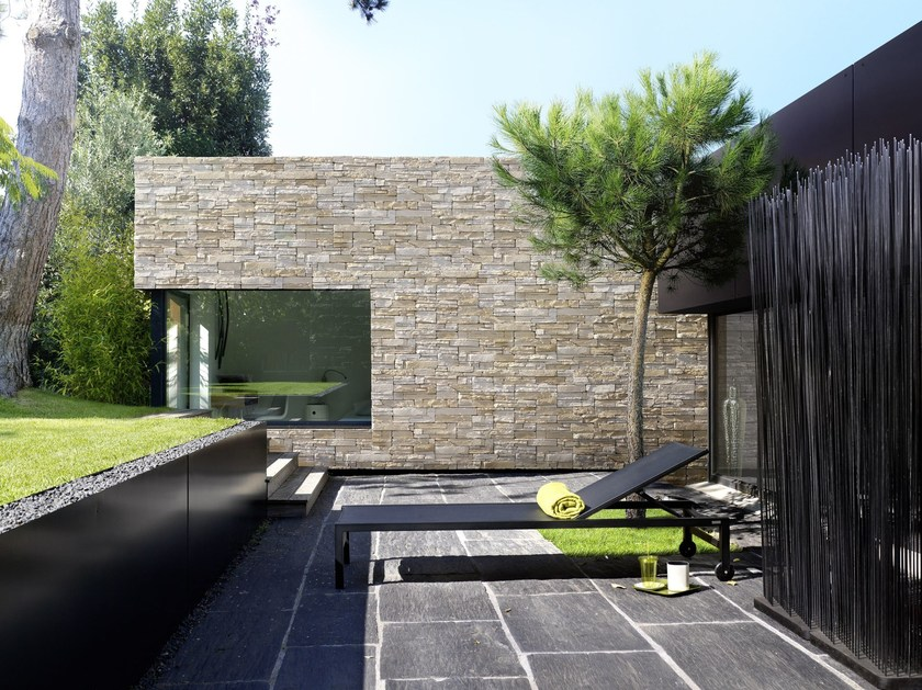 Reconstructed stone wall tiles ROCKY MOUNTAIN by ORSOL