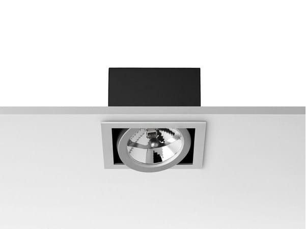 Halogen adjustable ceiling die cast aluminium spotlight BATTERY by FLOS