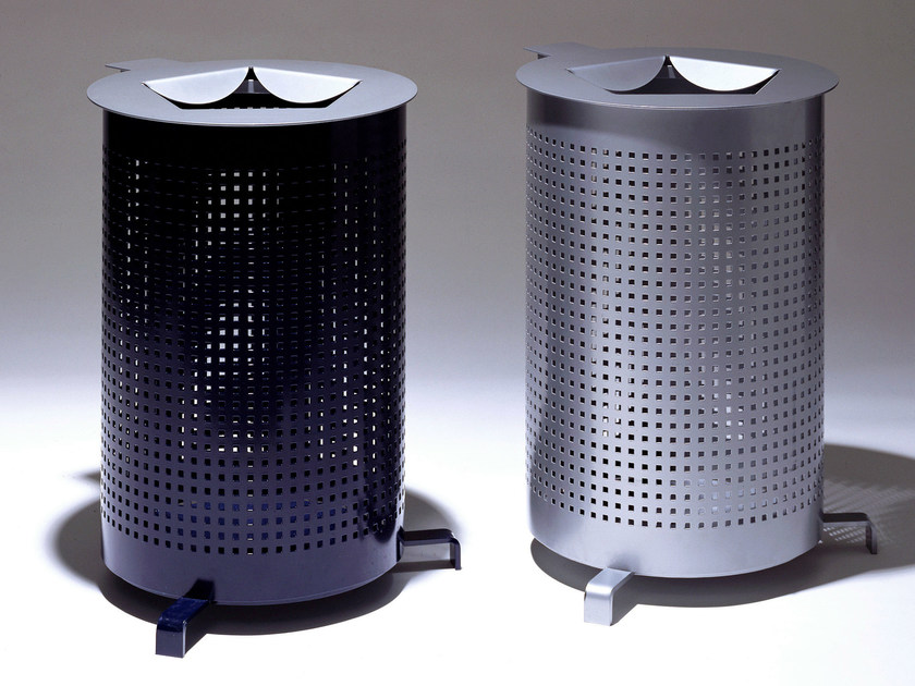 Steel waste paper bin DISKUS 2 by Nola Industrier