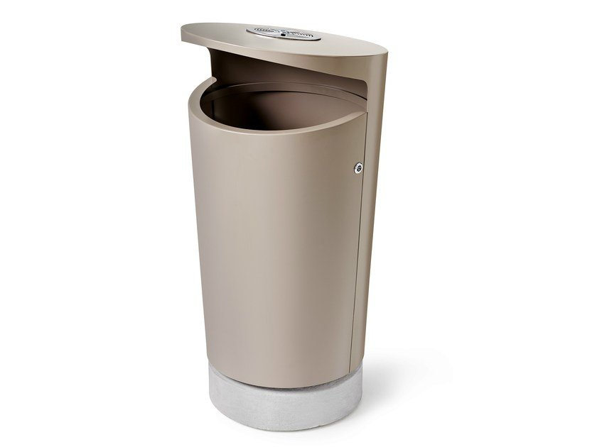 Powder coated steel litter bin ELBIN by Nola Industrier