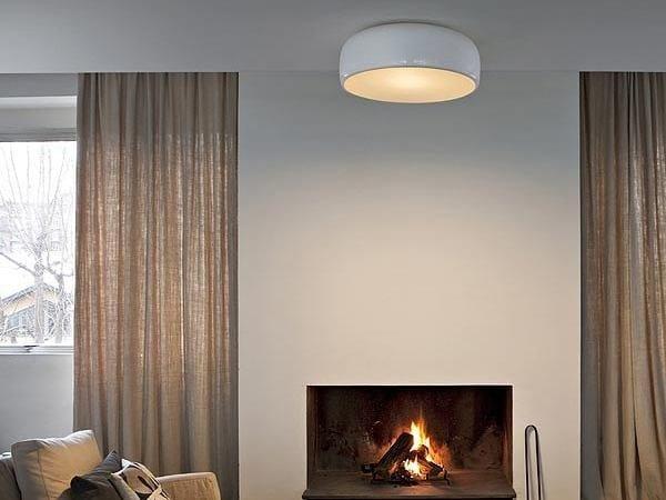 Plafoniera Flos Smithfield : Lampada da soffitto in alluminio smithfield c by flos design