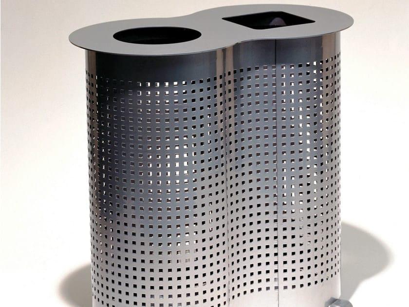 Stainless steel litter bin PEANUT by Nola Industrier