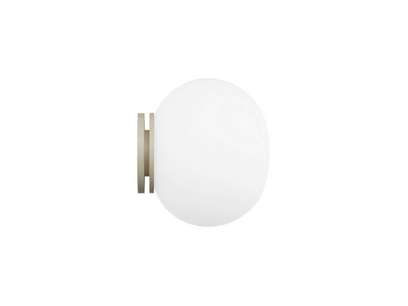 Opal glass wall light MINI GLO-BALL CW by FLOS