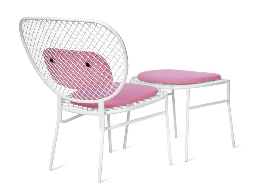 Powder coated steel easy chair WIMBLEDON | Easy chair by Nola Industrier