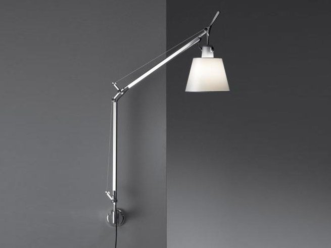 Wall lamp with swing arm TOLOMEO BASCULANTE | Satin wall lamp by Artemide
