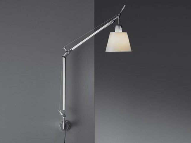 Wall lamp with swing arm TOLOMEO BASCULANTE | Parchment paper wall lamp by Artemide