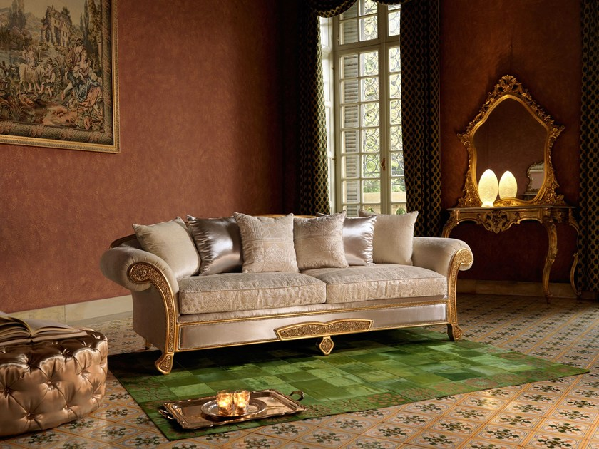 Tufted 3 seater sofa bed TREVI | Sofa bed by Domingo Salotti
