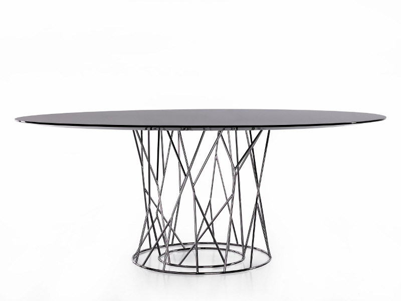 Round steel table SYNAPSIS | Round table by Porro
