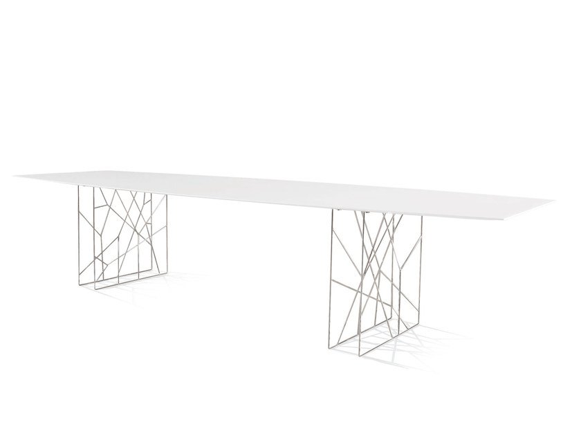 Design steel table SYNAPSIS | Rectangular table by Porro