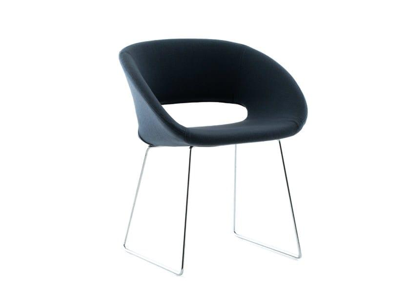 Sled base swivel chair CONCH | Sled base chair by Porro